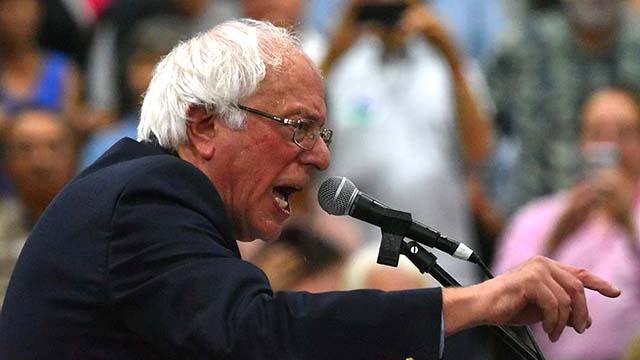 Sen. Bernie Sanders sharply criticized President Trump during a rally in Oceanside