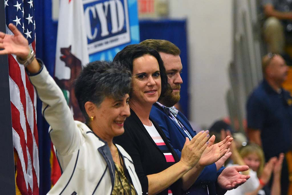 Candidates for state, county and city elections spoke at a get-out-the-vote rally in Oceanside.