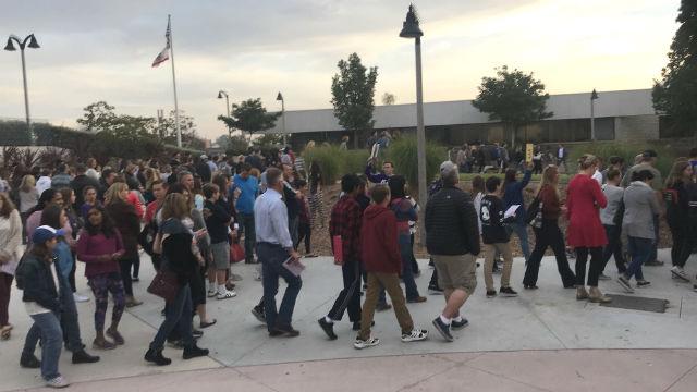 8th grade students tour Carlsbad High School