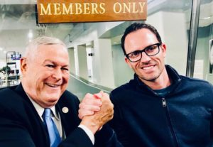 Rep. Dana Rohrabacher (left) and Brad McLaughlin in Washington.