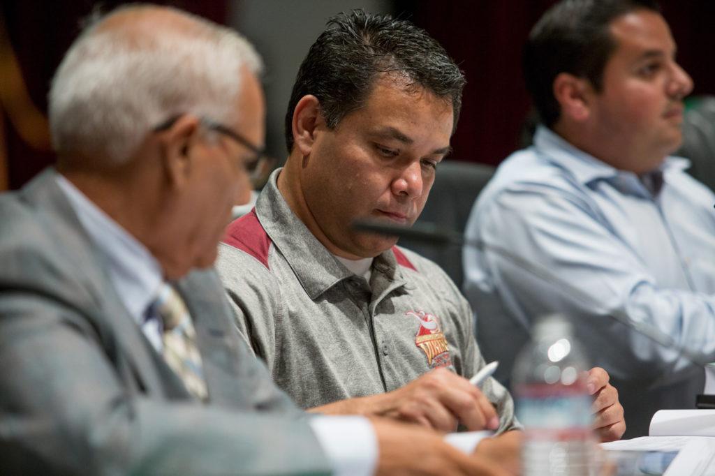 Marcos Diaz at a meeting