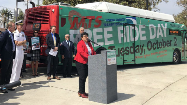 Georgette Gomez announces Free Ride Day