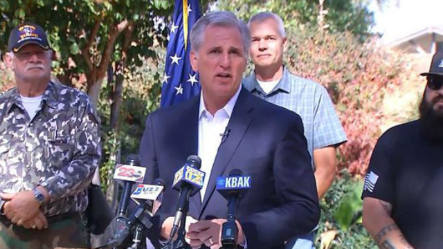 Rep. Kevin McCarthy at a press conference