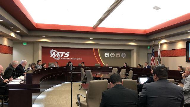 San Diego MTS board meeting
