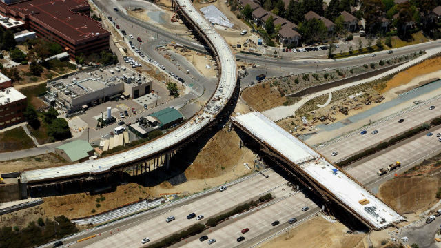 New bridge at Gilman Drive