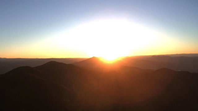 Sunrise from Otay Mountain