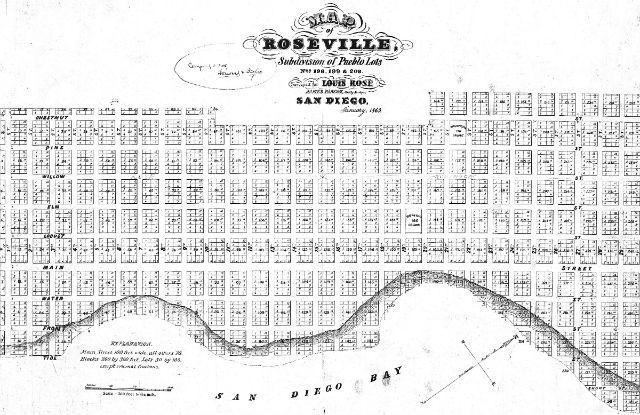 Map of historic Roseville