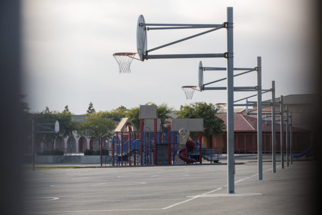 A playground at Ocean View Hills Elementary