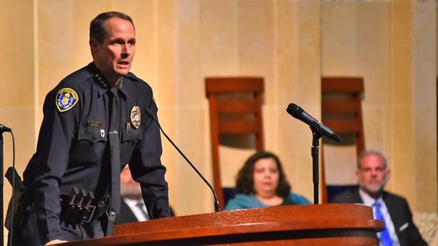 """San Diego Police Chief David Nisleit said: """"Hate has no place in this country, no place in the City of San Diego or the County of San Diego and with all us working together, I know we can eradicate hate."""""""