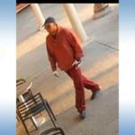 "Surveillance photo of ""Burgundy Bandit"" sought by FBI."
