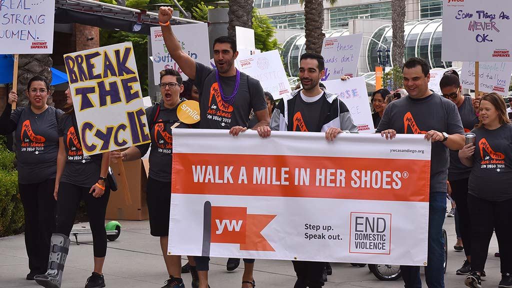 The one-mile walk started and ended at Martin Luther King Promenade Park downtown.