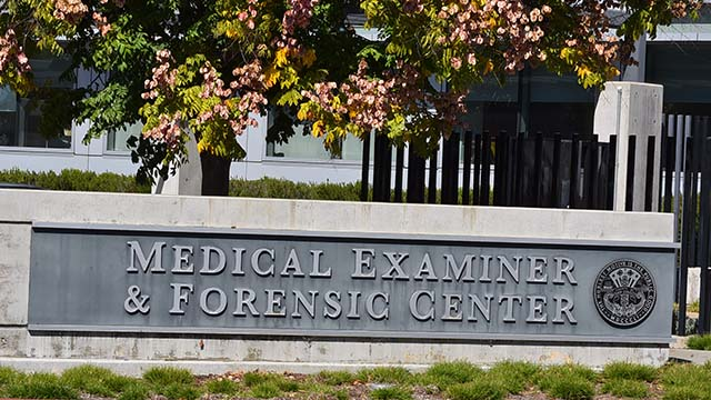 San Diego County Medical Examiner's Office at the County Operations Center.