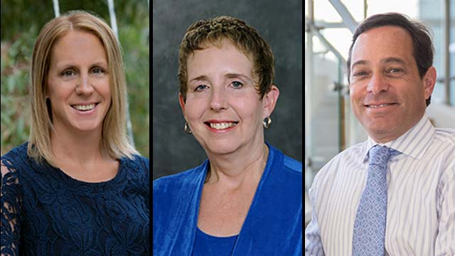 The first three San Diego  law professors to have their names appear on letter were (from left) Hannah Brenner and Roberta Thyfault of California Western School of Law and Steve Berenson of Thomas Jefferson School of Law.