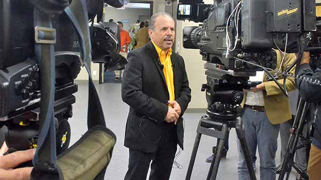 Mickey Kasparian, shown at his Family Workers Council debut, has been elected president of UFCW Local 135 since summer 2003.