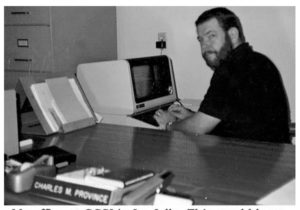 Mike Province in 1985 at Copley Computer Services Inc. in La Jolla.