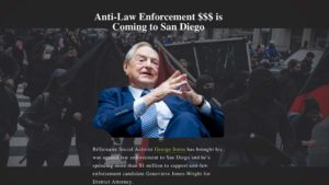 In her campaign against Geneviéve Jones-Wright, District Attorney paid for a website that highlighted attacks on Jewish billionaire George Soros