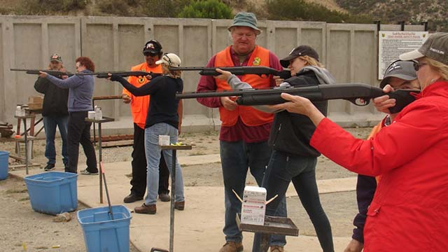 Women practice their skills at South Bay Rod and Gun Club