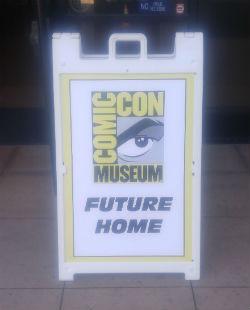 Comic-Con Museum sign