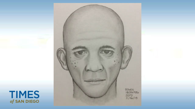 Police sketch of assault suspect