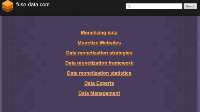 Spam website Fuse-Data