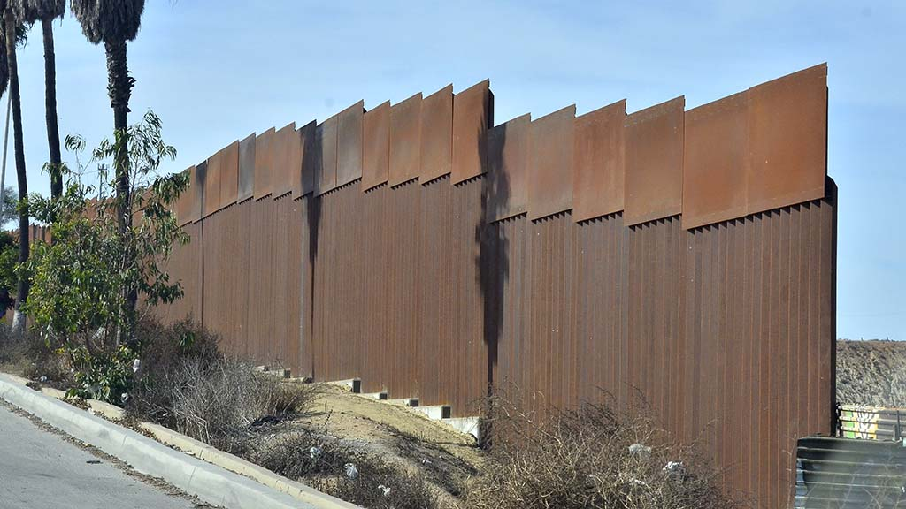 A new taller see-through version of the border fence was erected by Tijuana recently.