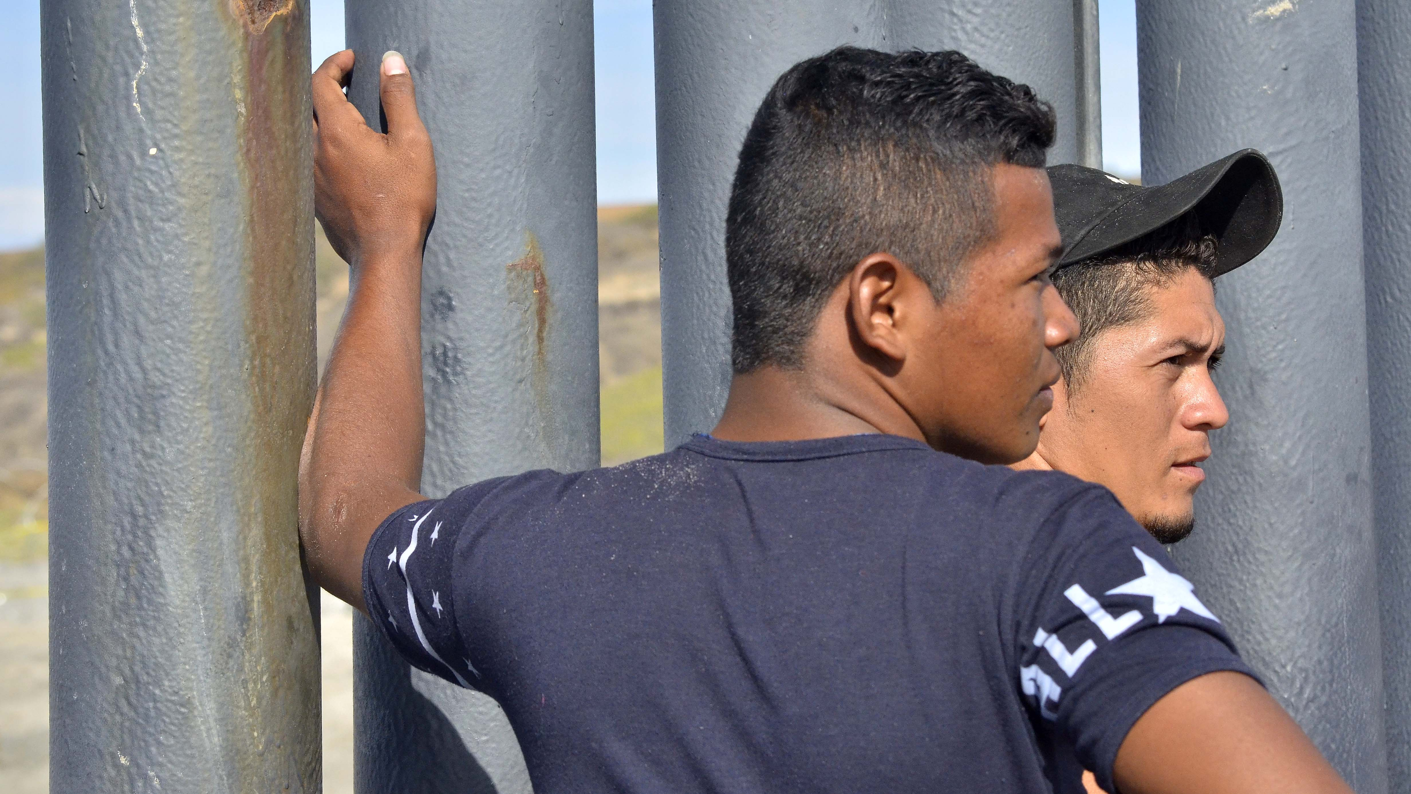 Nixon (first name), 19, and Lionel, 23, from Honduras arrived in Tijuana the day before.