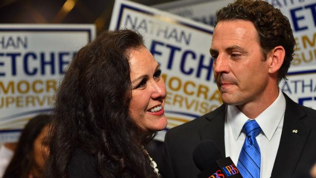 Nathan Fletcher and Lorena Gonzalez Fletcher
