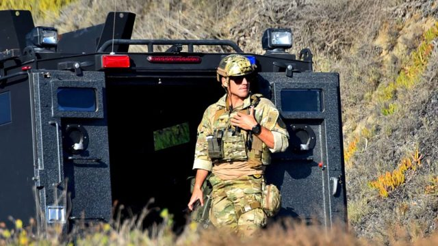 Troops have been stationed at the border to assist U.S. Customs and Border Protection.
