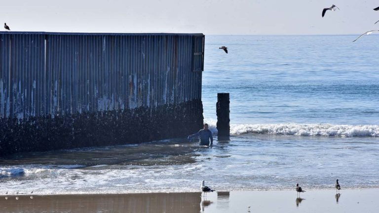A man from Nicaragua worked his way around the border fence and walked north on the beach until he was intercepted by a Border Patrol supervisor.