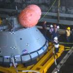 Orion test capsule aboard USS John P. Murtha