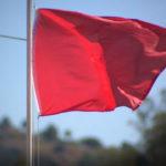 Red flag fire danger warning