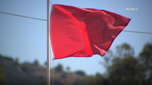 Red flag fire danger warning