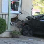 crash into house
