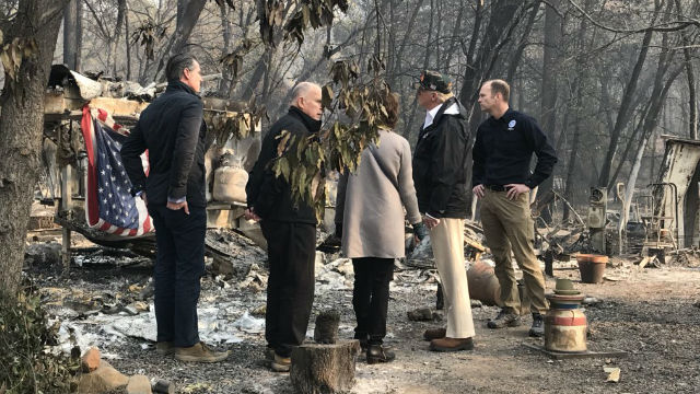 President Trump tours the Camp Fire disaster area