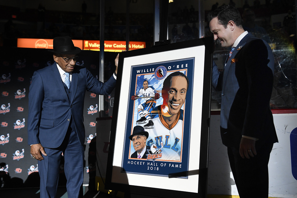 Gulls Honor Willie O'Ree for Hall of Fame Induction ...