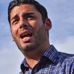 Ammar Campa-Najjar, shown at a recent Escondido rally, hopes uncounted votes from that city and San Marcos will elevate him to Congress.