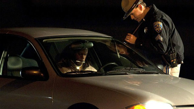 CHP officer checks suspected drunk driver
