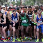 Runners at starting line of 2015 Carlsbad 5000.