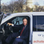 Rep. Scott Peters in clean diesel vehicle