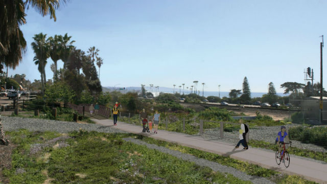 Encinitas Rail Trial project rendering