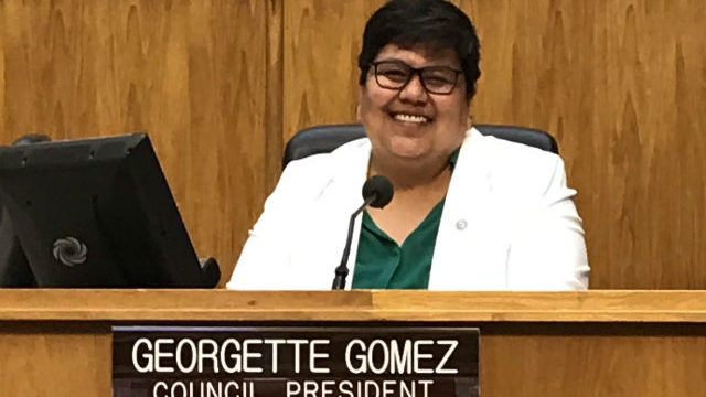 Georgette Gomez in City Council chambers