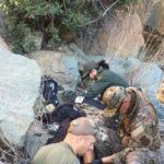 Border Patrol agents render first aid