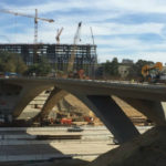 Bridge construction over Interstate 5
