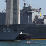 The HII San Diego Shipyard was repairing and upgrading the USS Chosin (left) and USS Comstock on Sept. 6, 2018. Neither ship had a waterborne security vessel guarding the asset, despite Navy regulations requiring it.