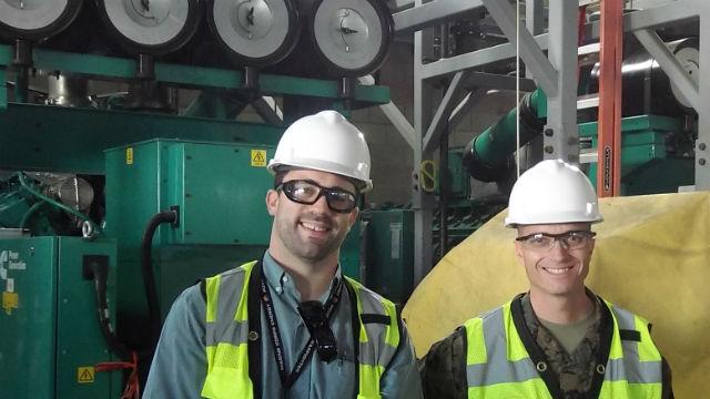 Generating plant under construction at Miramar