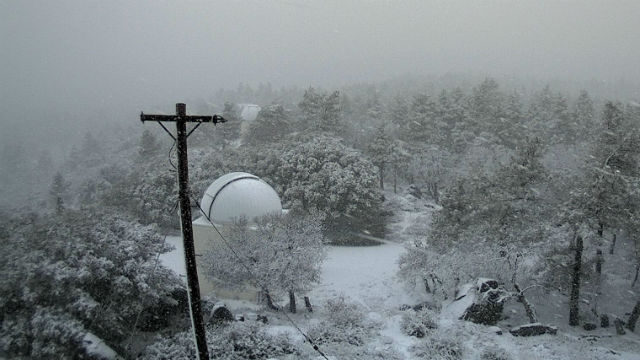 Snow at Mt. Laguna Observator