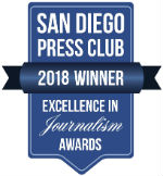San Diego Press Club 2018 award winner
