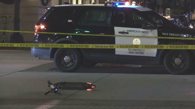 Kearny Mesa Toyota >> Man Riding Electric Scooter Seriously Injured in Gaslamp District Collision - Times of San Diego