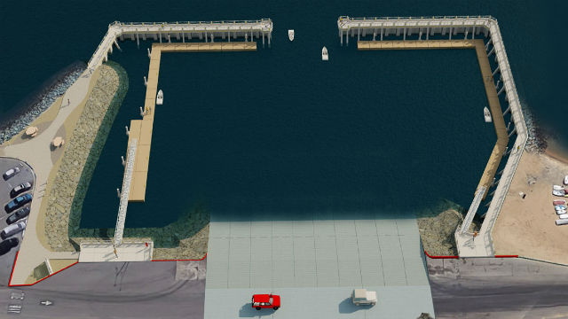 Rendering of completed boat launch upgrade