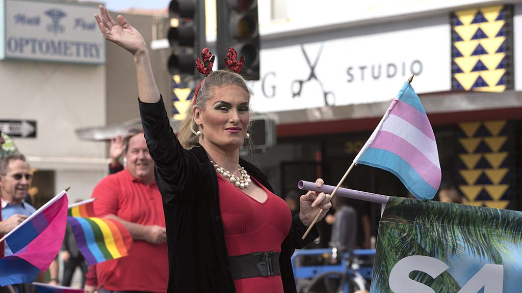San Diego Pride members greeted the spectators.
